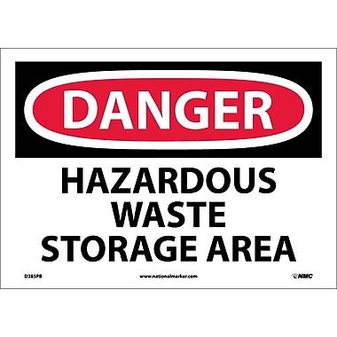 Danger, Hazardous Waste Storage Area, 10