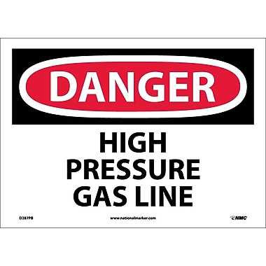 Danger, High Pressure Gas Line, 10