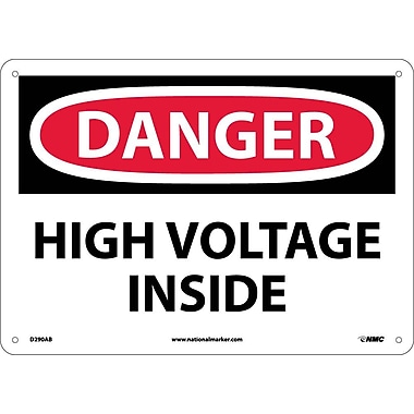 Danger, High Voltage Inside, 10X14, .040 Aluminum