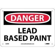 Danger, Lead Based Paint, 7X10, Rigid Plastic