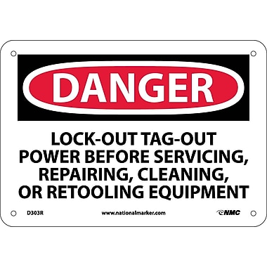 Danger, Lockout Tagout Power Before Servicing..., 7