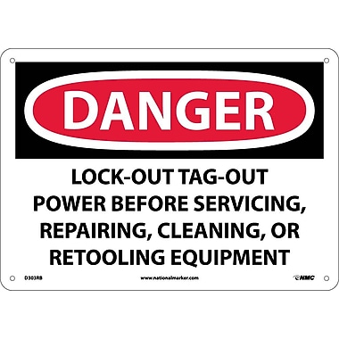 Danger, Lockout Tagout Power Before Servicing..., 10