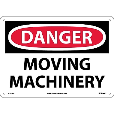 Danger, Moving Machinery, 10X14, Rigid Plastic