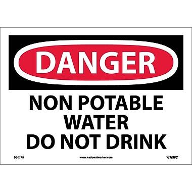 Danger, Non Potable Water Do Not Drink, 10