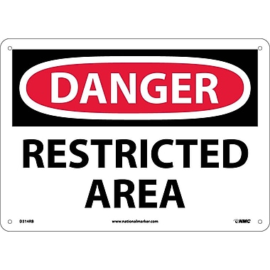 Danger, Restricted Area, 10X14, Rigid Plastic