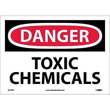 Danger, Toxic Chemicals, 10X14, Adhesive Vinyl
