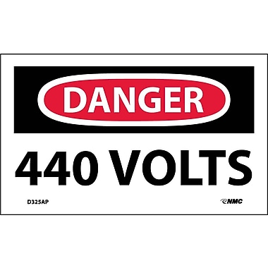 Labels Danger, 440 Volts, 3