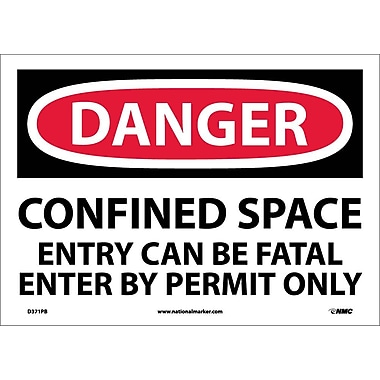 Danger, Confined Space Entry Can Be Fatal. . ., 10X14, Adhesive Vinyl