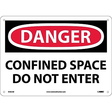 Danger, Confined Space Do Not Enter, 10X14, .040 Aluminum