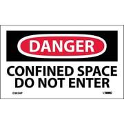 Labels - Danger, Confined Space Do Not Enter, 3X5, Adhesive Vinyl, 5/Pk