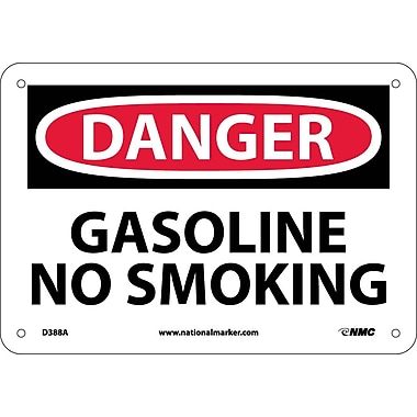Danger, Gasoline No Smoking, 7X10, .040 Aluminum