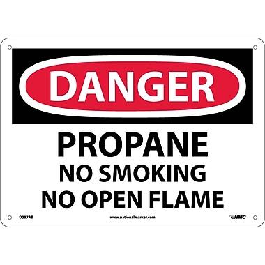 Danger, Propane No Smoking No Open Flame, 10X14, .040 Aluminum
