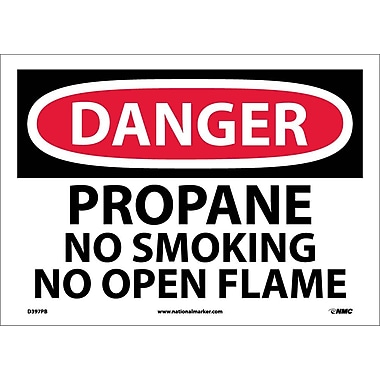 Danger, Propane No Smoking No Open Flame, 10