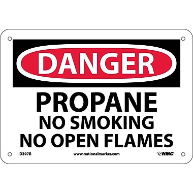 Danger, Propane No Smoking No Open Flame, 7