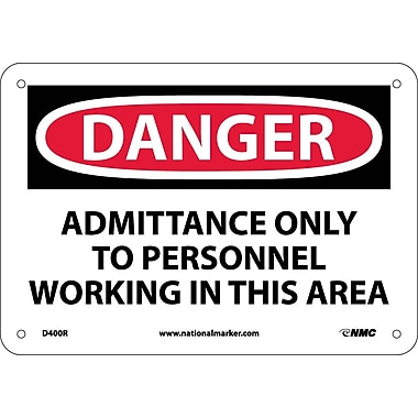 Danger, Admittance Only To Personnel Working In..., 7