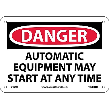 Danger, Automatic Equipment May Start At Anytime, 7