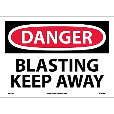Danger, Blasting Keep Away, 10X14, Adhesive Vinyl