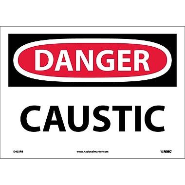 Danger, Caustic, 10X14, Adhesive Vinyl