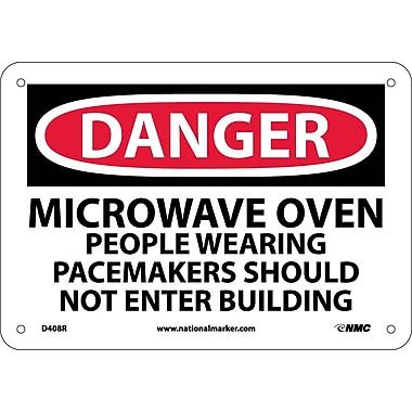 Danger, Microwave Oven People Wearing Pacemakers, 7X10, Rigid Plastic