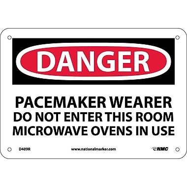 Danger, Pacemaker Wearer Do Not Enter This Room, 7X10, Rigid Plastic
