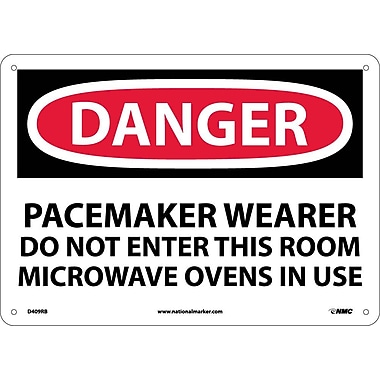 Danger, Pacemaker Wearer Do Not Enter This Room, 10X14, Rigid Plastic