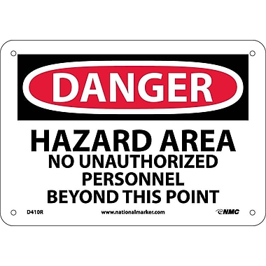Danger, Hazard Area No Unauthorized Personnel, 7