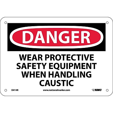 Danger, Wear Protective Safety Equipment When. . ., 7X10, Rigid Plastic