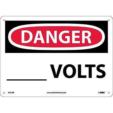 Danger, ____ Volts, 10X14, Rigid Plastic