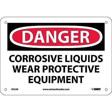 Danger, Corrosive Liquids Wear Protective Equipment, 7