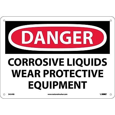 Danger, Corrosive Liquids Wear Protective Equipment, 10