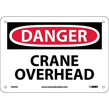 Danger, Crane Overhead, 7X10, .040 Aluminum