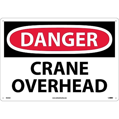 Danger, Crane Overhead, 14X20, .040 Aluminum