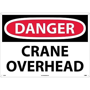 Danger, Crane Overhead, 20X28, Rigid Plastic