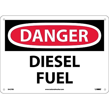 Danger, Diesel Fuel, 10X14, Rigid Plastic
