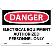 Danger, Electrical Equipment Authorized Personnel. . ., 10X14, .040 Aluminum