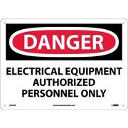 Danger, Electrical Equipment Authorized Personnel. . ., 10X14, Fiberglass