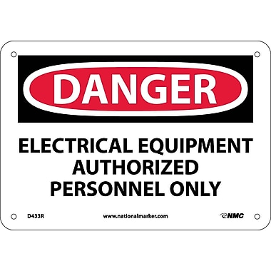 Danger, Electrical Equipment Authorized Personnel. . ., 7X10, Rigid Plastic