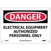 Danger, Electrical Equipment Authorized Personnel. . ., 7X10, Rigid Plastic