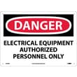 Danger, Electrical Equipment Authorized Personnel. . ., 10X14, Rigid Plastic