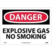 Danger, Explosive Gas No Smoking, 10X14, Adhesive Vinyl