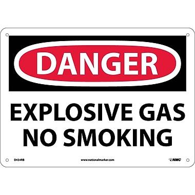 Danger, Explosive Gas No Smoking, 10X14, Rigid Plastic
