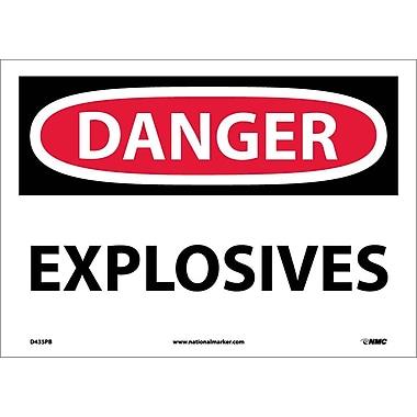 Danger, Explosives, 10X14, Adhesive Vinyl