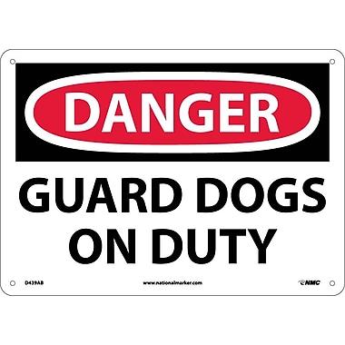 Danger, Guard Dogs On Duty, 10X14, .040 Aluminum