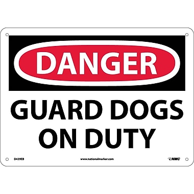 Danger, Guard Dogs On Duty, 10X14, Fiberglass
