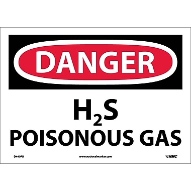 Danger, H2S Poisonous Gas, 10