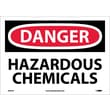 Danger, Hazardous Chemicals, 10X14, Adhesive Vinyl