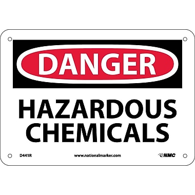 Danger, Hazardous Chemicals, 7X10, Rigid Plastic