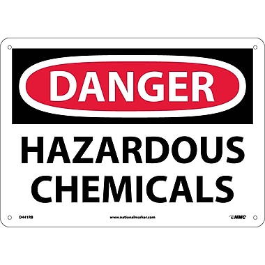 Danger, Hazardous Chemicals, 10X14, Rigid Plastic