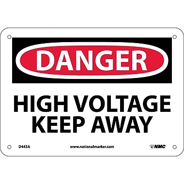Danger, High Voltage Keep Away, 7X10, .040 Aluminum