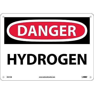 Danger, Hydrogen, 10X14, .040 Aluminum